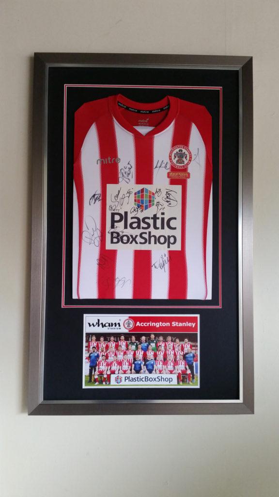 Football Shirt & Sporting Memorabilia Framing Service
